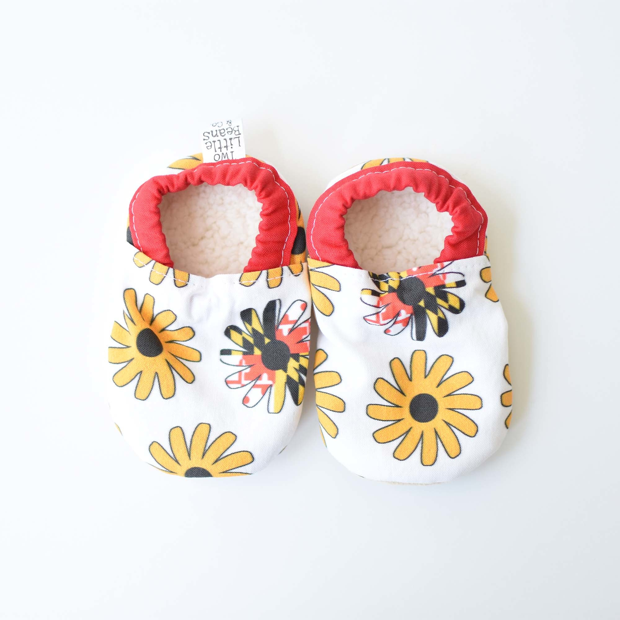 Two Little Beans Black Eyed Susan Booties
