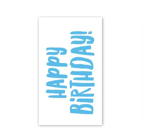 Rock Scissor Paper Happy Birthday! - Enclosure Card