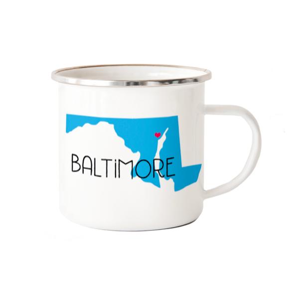 Rock Scissor Paper Baltimore Camp Mug