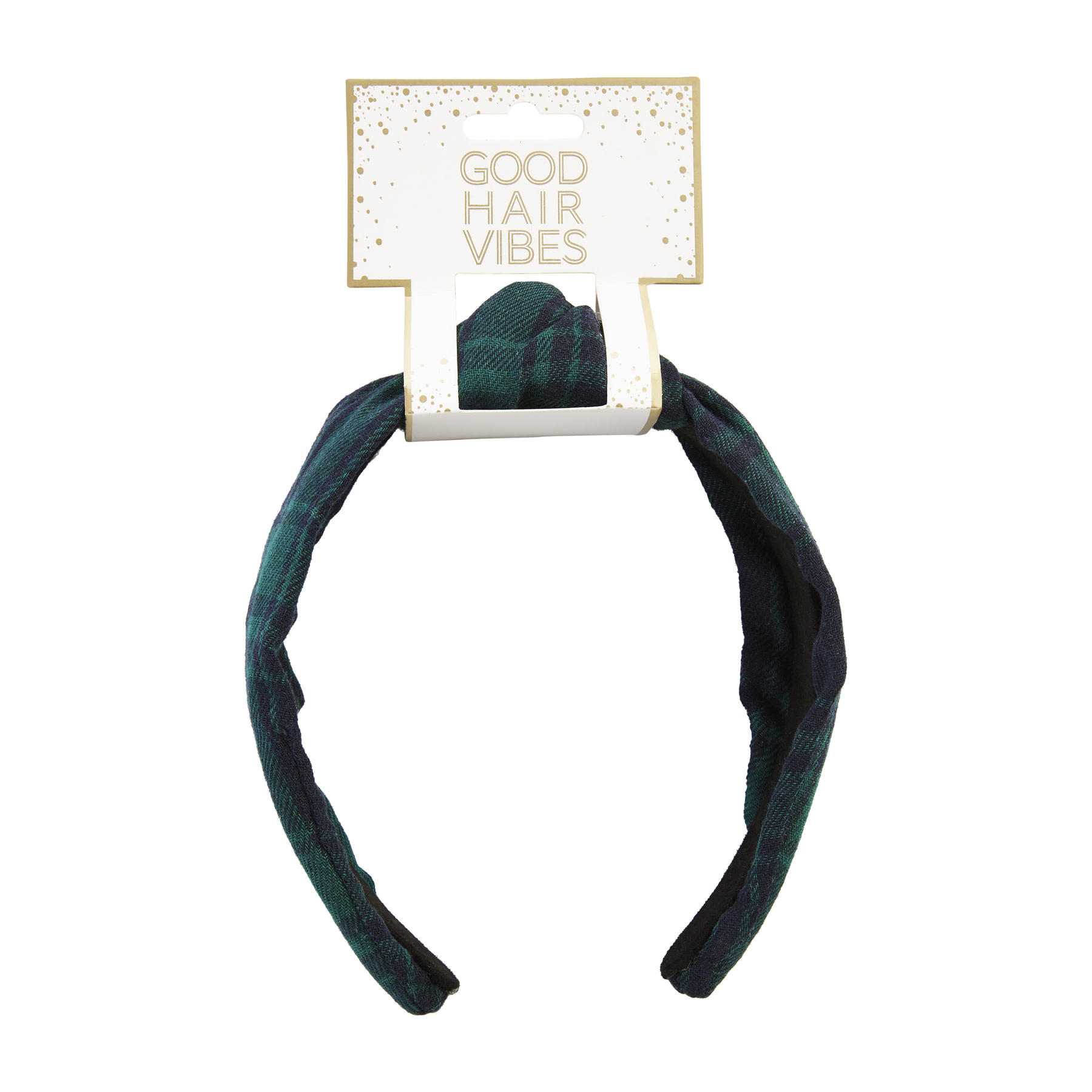 Mud Pie GREEN PATTERNED KNOTTED HEADBAND