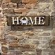 LeRoy Woodworks Crab Rope Home Sign - Burnt Wood