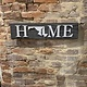 LeRoy Woodworks Maryland Home Sign - Burnt/Gray