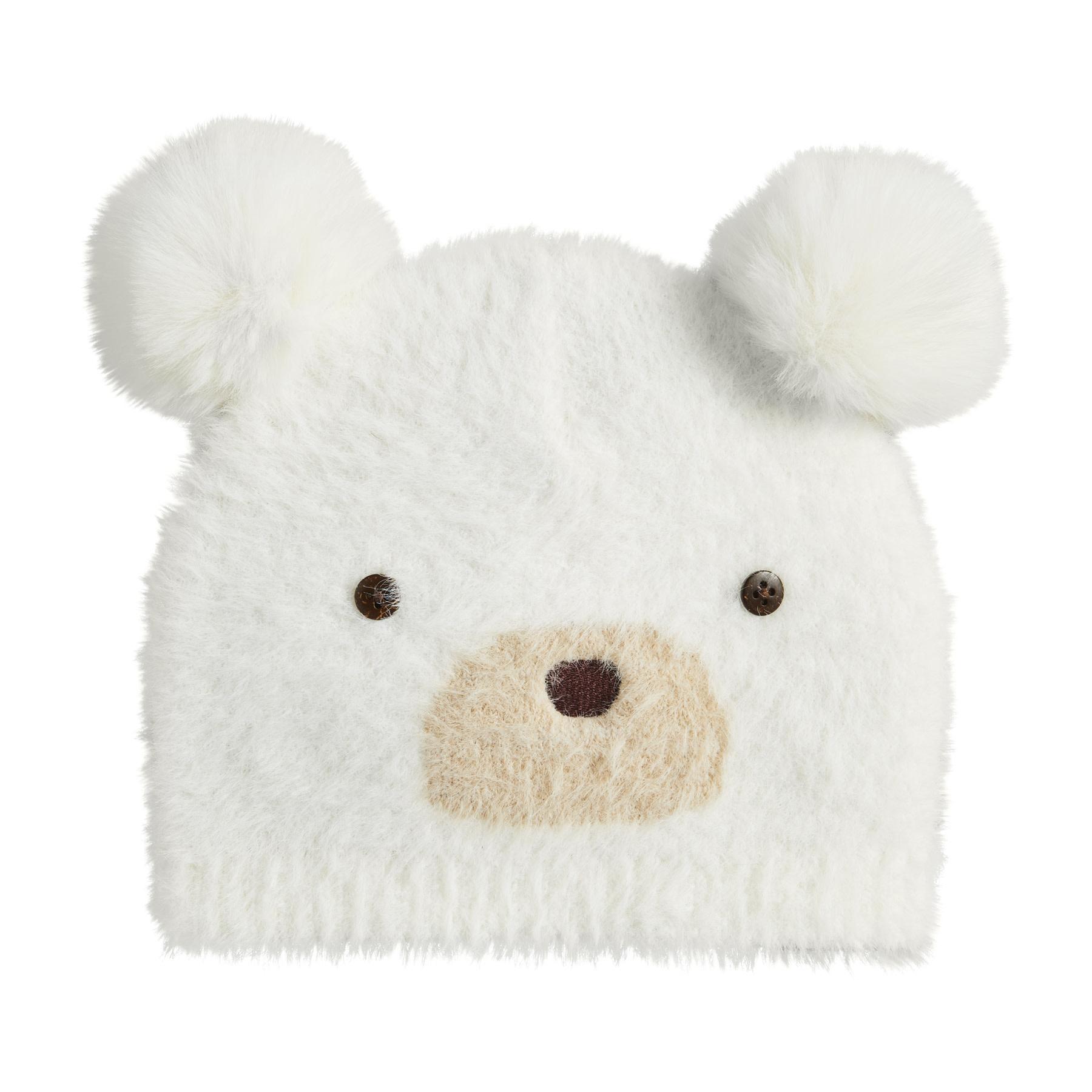 Mud Pie Ivory Bear Hat