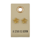 Creative Brands Leather Tag Earrings - Star