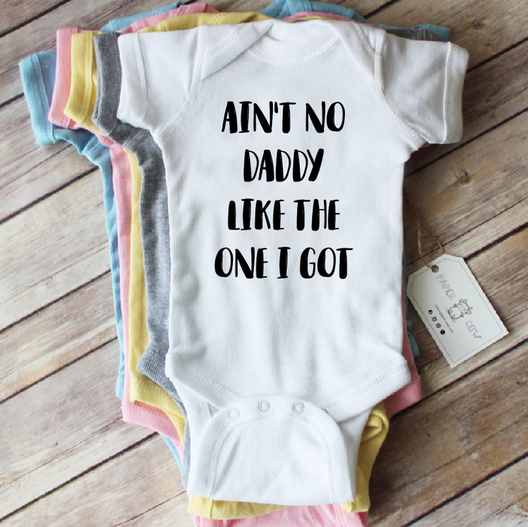 Paper Cow Clothing Ain't No Daddy Baby Bodysuit