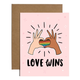 Brittany Paige Love Wins Pride Sticker Card