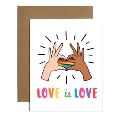 Brittany Paige Love is Love Pride Card