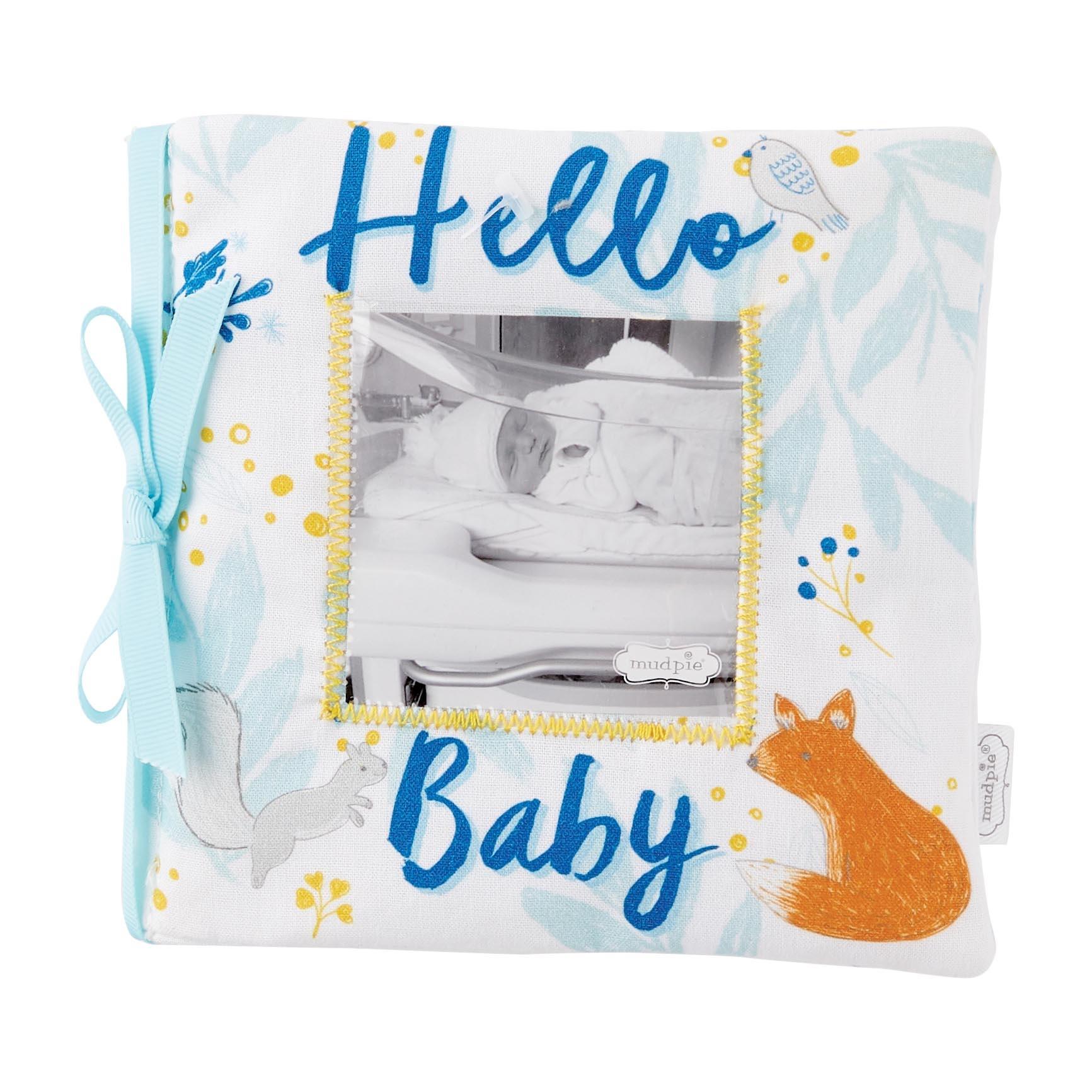 Mud Pie HELLO BABY BLUE BOOK