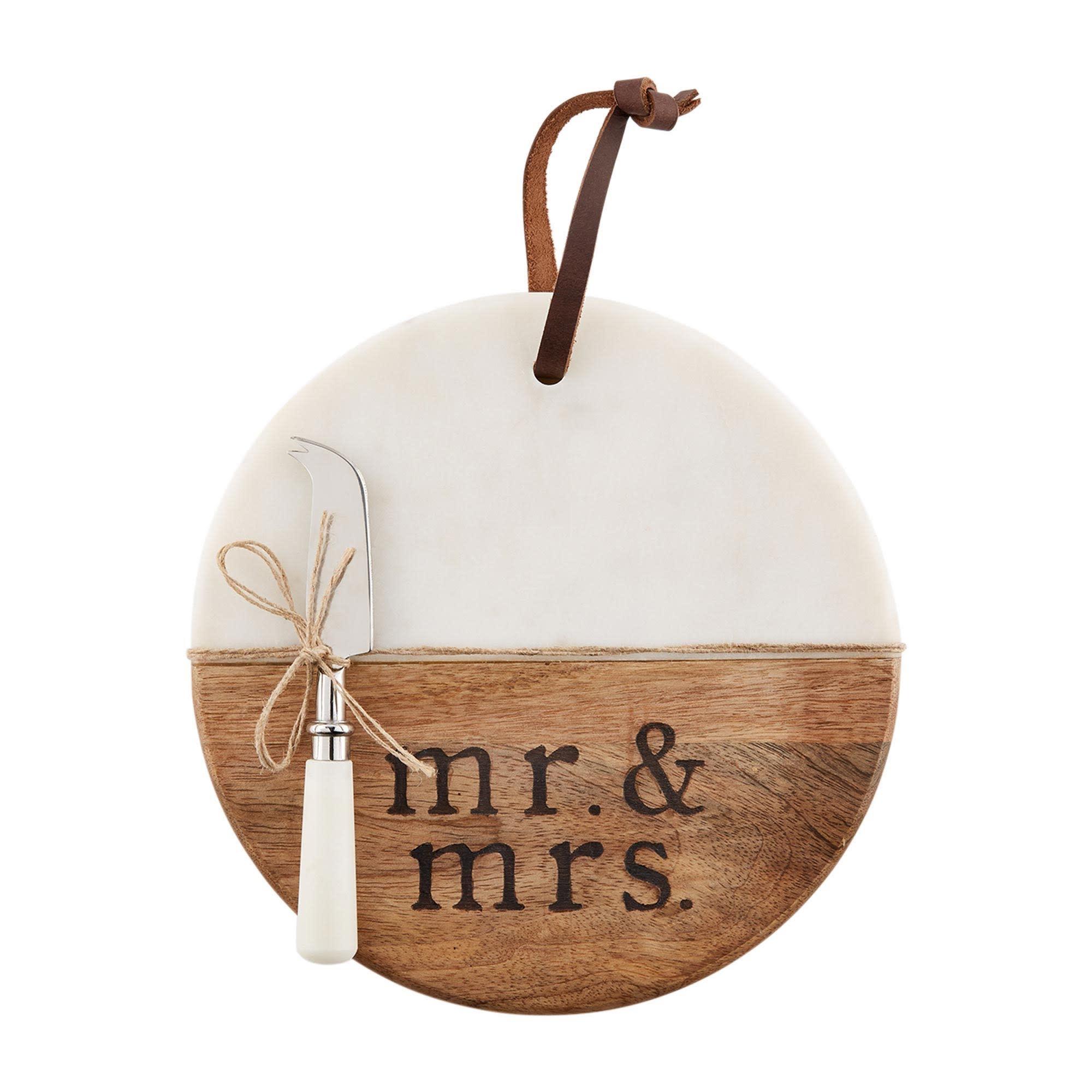 Mud Pie MR AND MRS BOARD SET