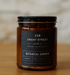 Grant Street Candle Co. Botanical Gardens 9 oz Candle