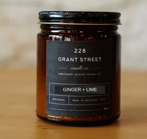 Grant Street Candle Co. Ginger + Lime 9 oz Candle