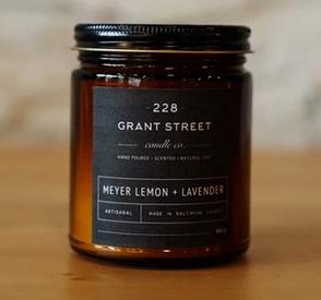 Grant Street Candle Co. Meyer Lemon + Lavender 9 oz Candle