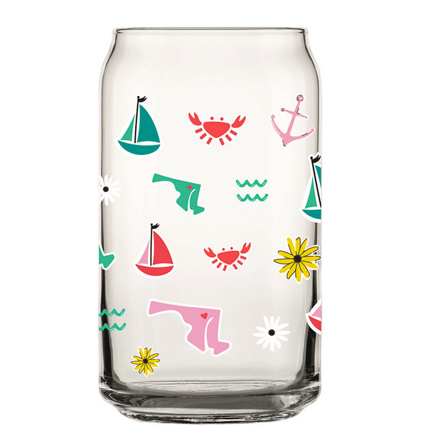 Dogs of Charm City Maryland Icon Pint Glass