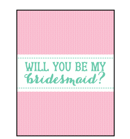"""Ann Page """"Be My Bridesmaid?"""" Greeting Card"""