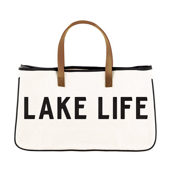Creative Brands Canvas Tote - Lake Life