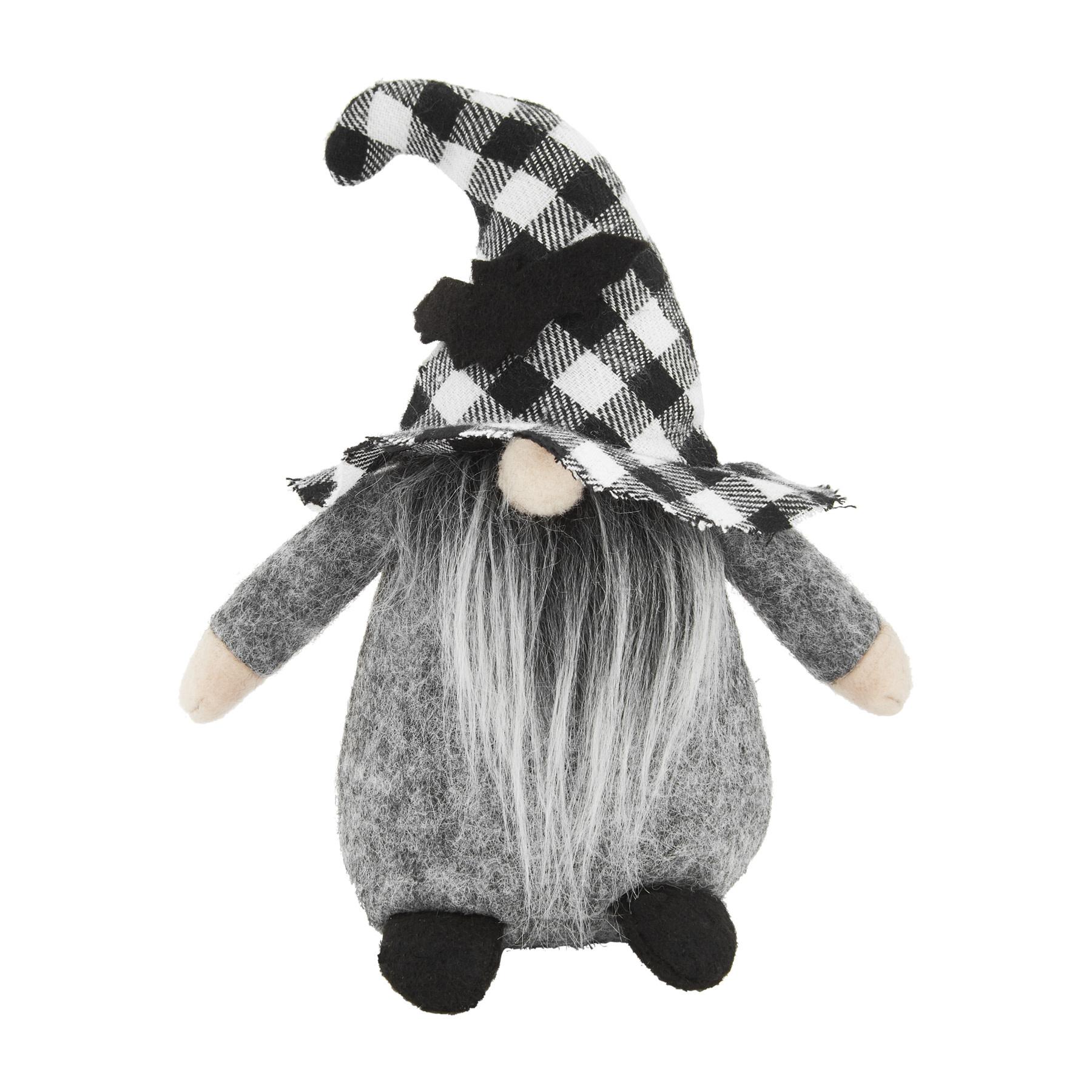 Mud Pie Black Buffalo Small Halloween Gnome