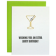 Chez Gagne Extra Dirty Birthday Paper Clip Card
