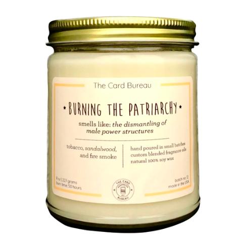 The Card Bureau Burning the Patriarchy Candle