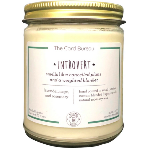 The Card Bureau Introvert Candle