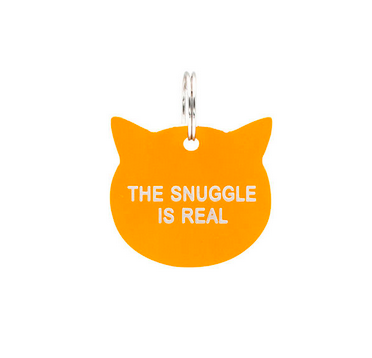 About Face Designs Cat Tag - The Snuggle is Real