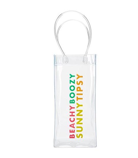 Creative Brands Clear Wine Bag- Beach Boozy Sunny Tipsy