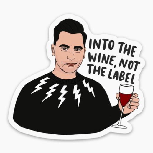 Brittany Paige David Rose Schitts Creek Wine Sticker