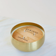 Rewined Champagne Large Gold Bowl Candle