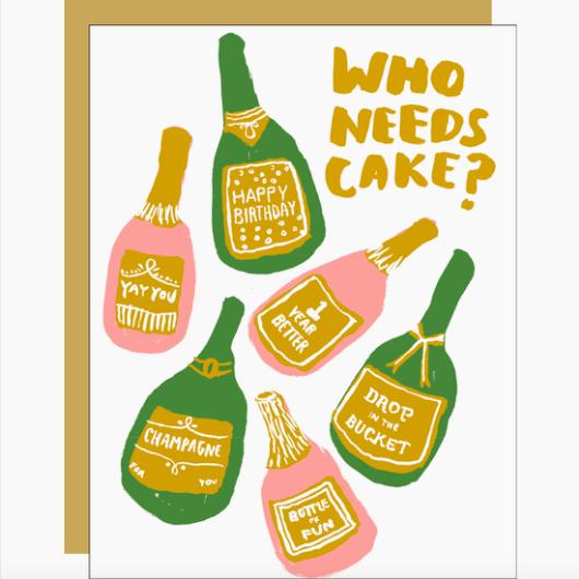 Egg Press Bubbles Birthday Card