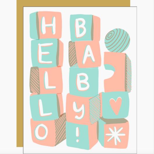 Egg Press Hello Baby Card