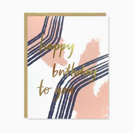 Row House 14 Happy Birthday to You Gold Foil Card