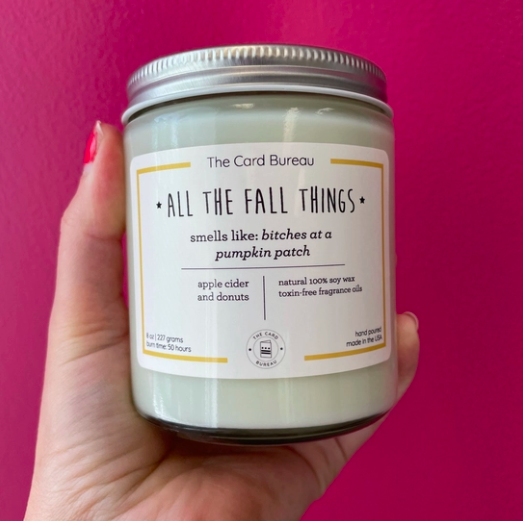 The Card Bureau All The Fall Things Soy Candle