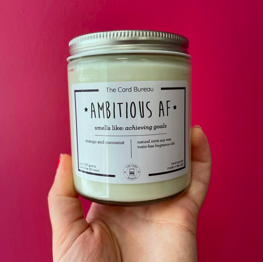 The Card Bureau Ambitious AF Soy Candle