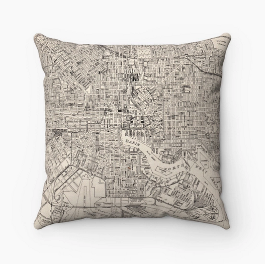 Daisy Mae Designs Map Pillow Baltimore Maryland