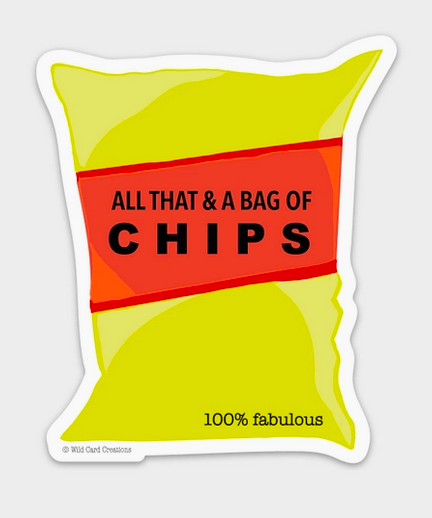 Wild Card Creations All That & a Bag of Chips Sticker