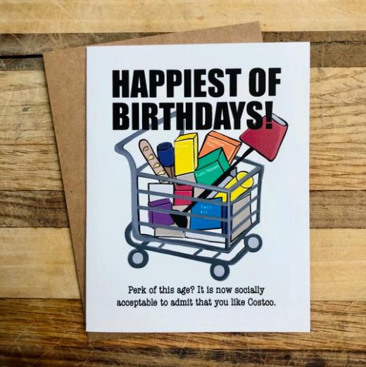 Wild Card Creations Costco Birthday Card