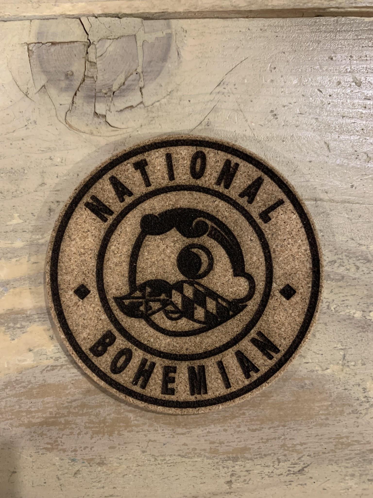 LeRoy Woodworks Cork Coaster National Bohemian
