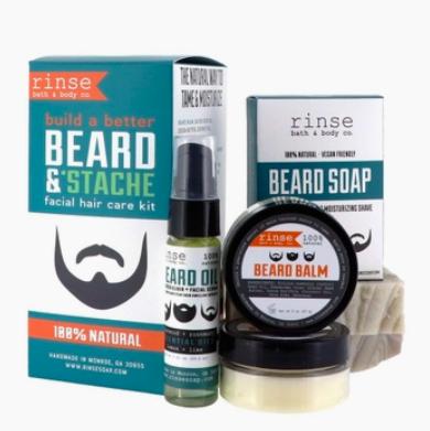 Rinse Bath & Body Beard & Stache Kit