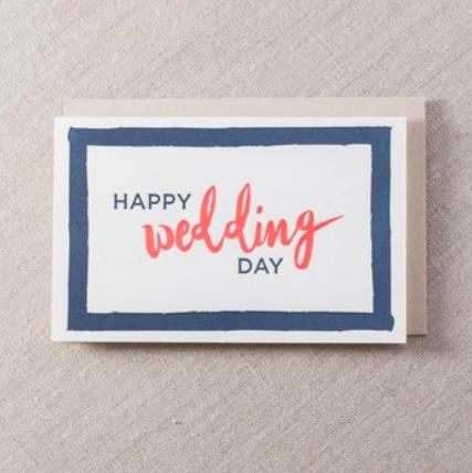 Pike Street Press Happy Wedding Day Card