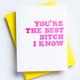 Richie Designs Best Bitch I Know Card