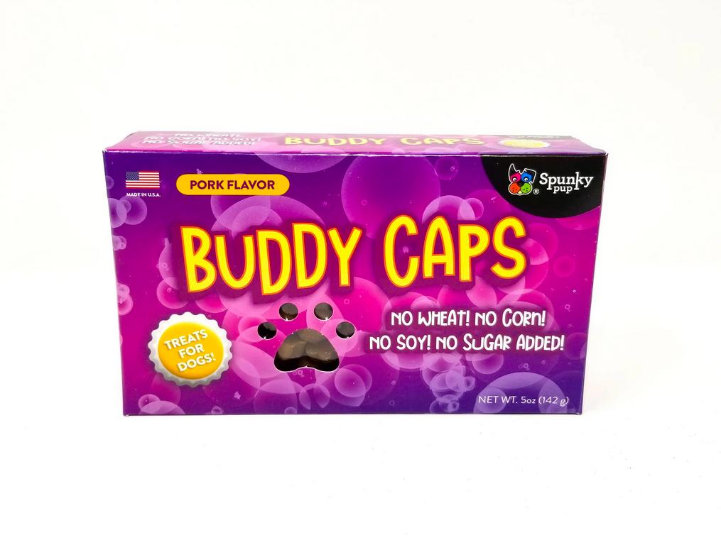 Spunky Pup Buddy Caps Dog Treats, Pork Flavor