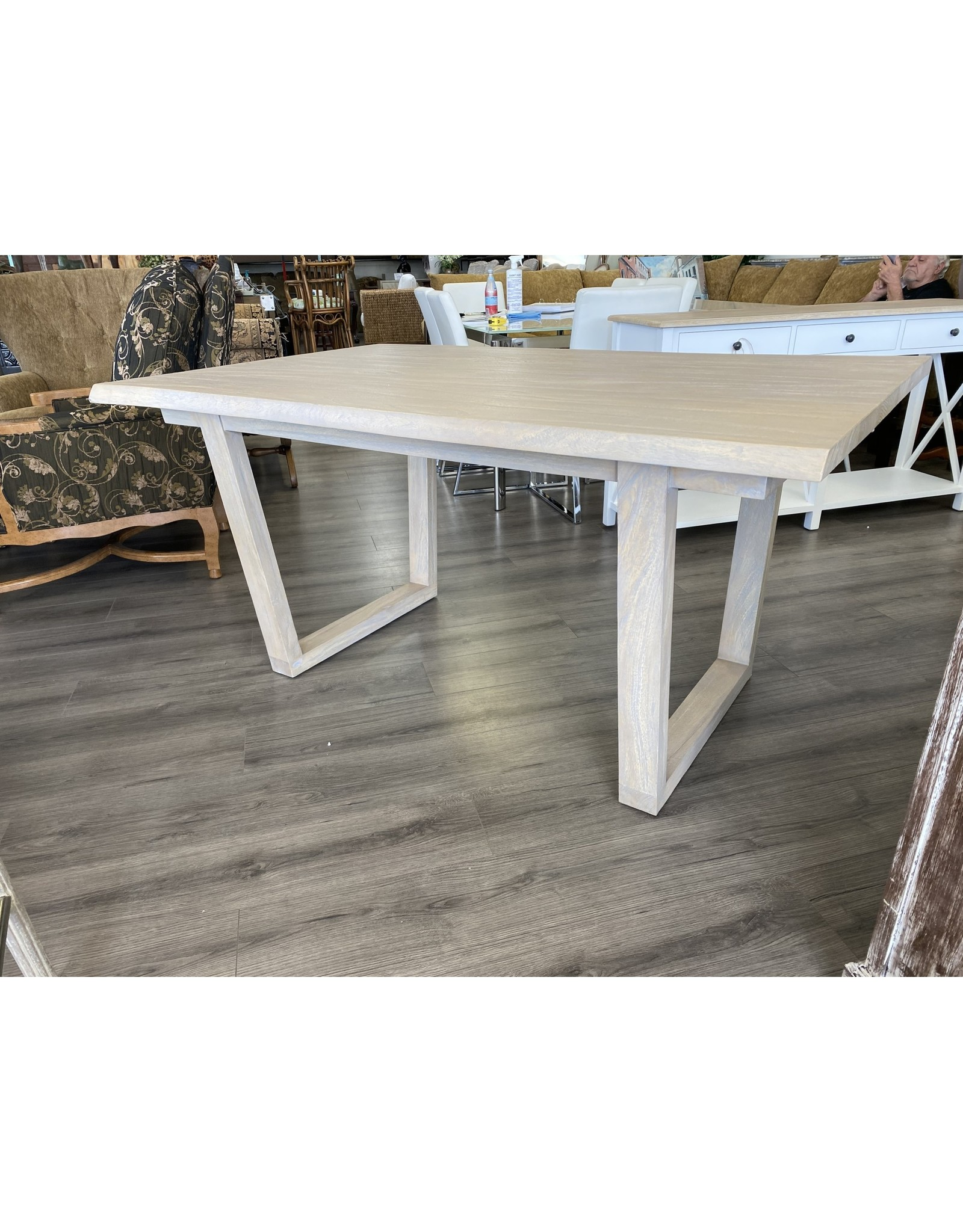 Picture of: 62x39x30 Brand New Solid Wood Modern Farmhouse Live Edge Table Weathered Gray 820 455 Tl782 Outside The Box Palm Beach
