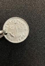 CIVIC DUTY Coin Key Chain - Silver