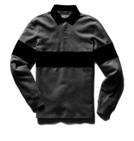 Reigning Champ REIGNING CHAMP interlock rugby shirt