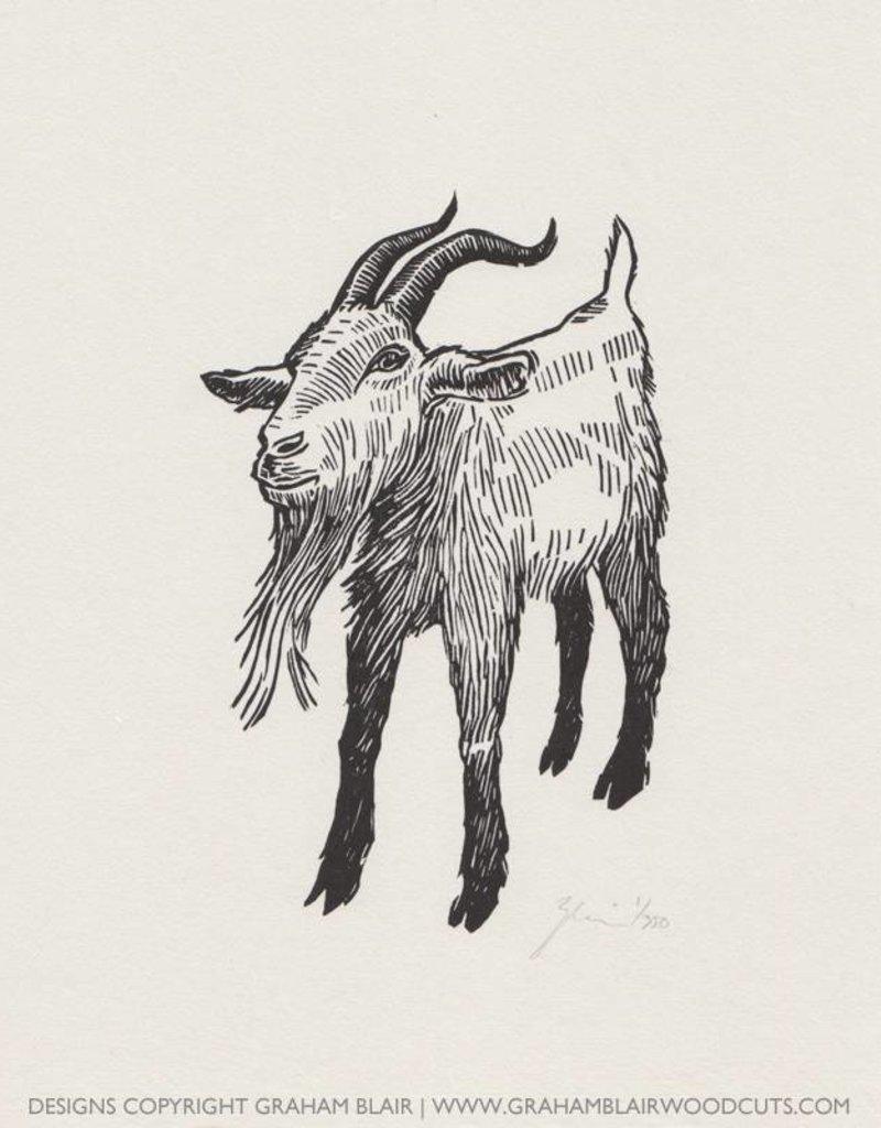 Graham Blair Woodcuts GRAHAM BLAIR billy goat