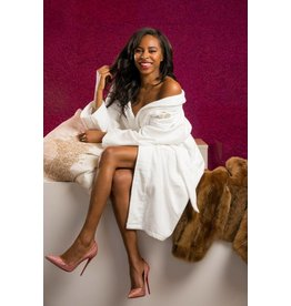 Cherry Blossom Intimates Premium Cotton Terry Robe