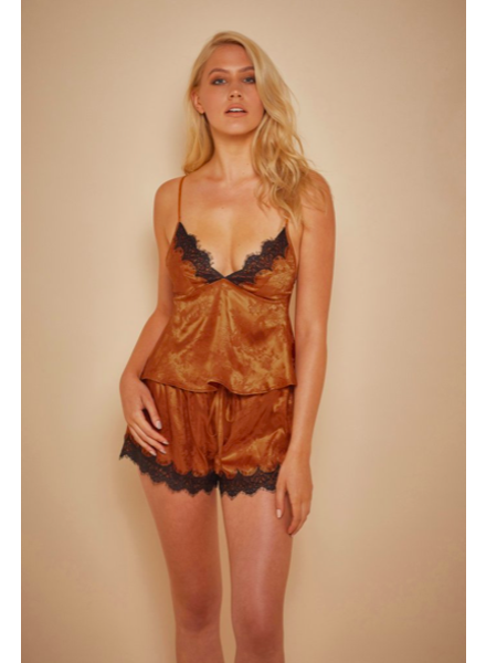Playful Promises Rust Cami and Short Set