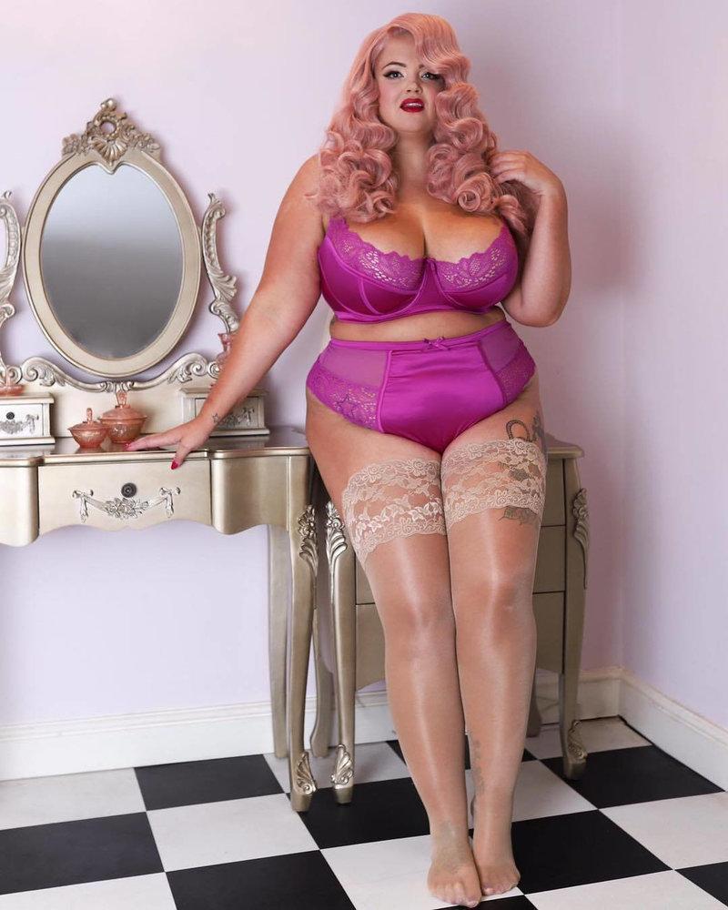 Playful Promises Carmen Pink Lace & Satin Longline Bra