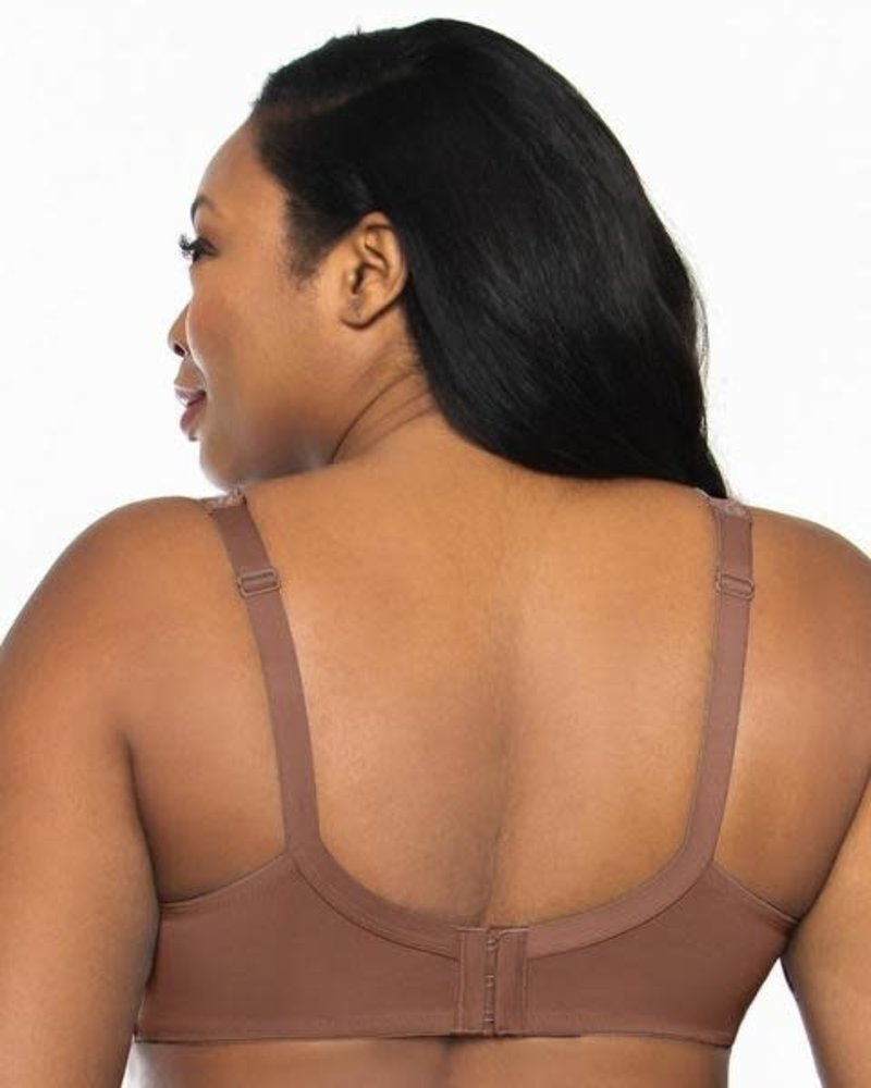 Curvy Couture Chocolate Lace Tulip Push-Up