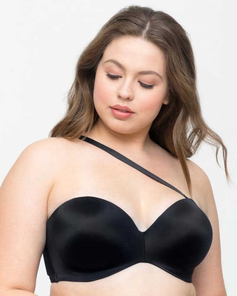 Curvy Couture Smooth Strapless Black