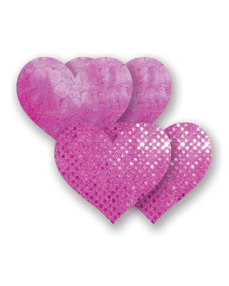 Nippies Rio Heart Adhesive Nipple Cover in Pink